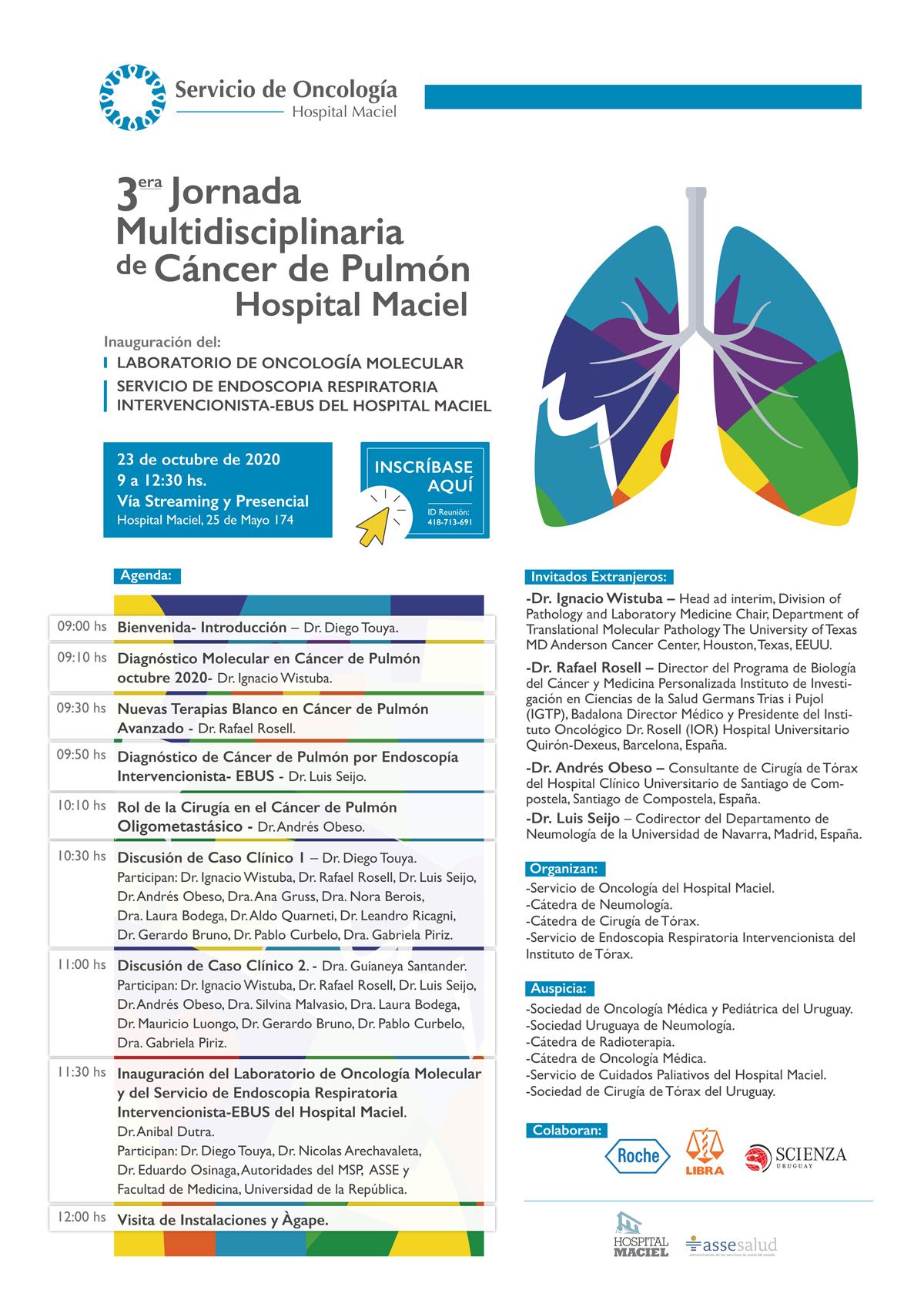 3ra Jornada Multidisciplinaria de Cáncer de pulmón, Hospital Maciel