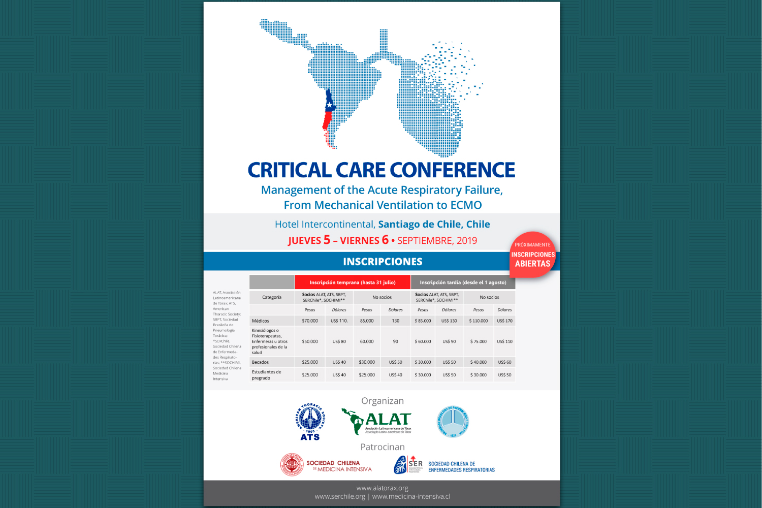 CRITICAL CARE CONFERENCE 2019. Management of the Acute Respiratory Failure, From Mechanical Ventilation to ECMO